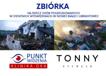 Zbiórka na rzecz osób poszkodowanych w wydarzeniach w Nowej Białej i Librantowej